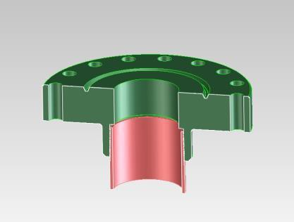 Simplified Assemblies for Special Tasks Welded Flange Adapter